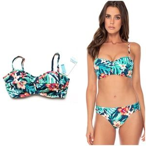 NWT 36DD SunsetsCalifornia Iconic Twist Bikini Top